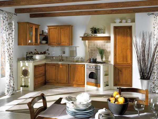 Cucine in finta muratura forl cesena moderne rustiche - Cucine in muratura con isola ...